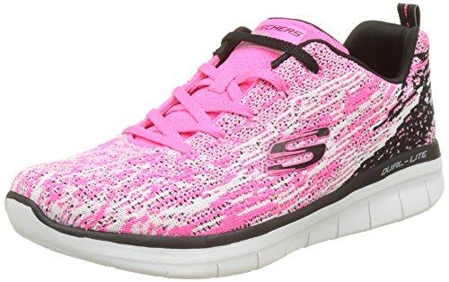 Skechers Damen Synergy 2.0-High Spirits Sneaker, Mehrfarbig (Hot Pink/Black), 38 EU (Skechers Leichte Sneakers)