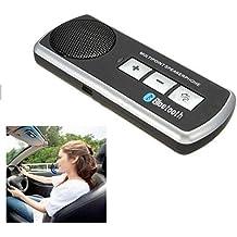 BW Bluetooth Manos libres Kit de coche Altavoz Sun Visor Clip para teléfono móvil iPhone 6S 6 5S 5 4S 4 Samsung Galaxy S5 S3 i9300 y más
