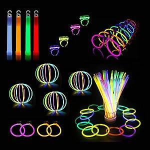 Glowz Paquete de fiesta Premium Glow Stick de 102 piezas de Glowz