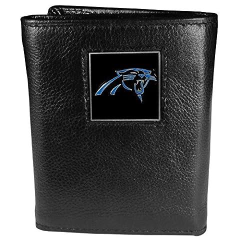 NFL Carolina Panthers Genuine Leather Tri-fold Wallet