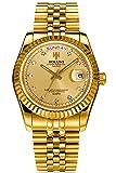 loluka Herren Luxus Gold Edelstahl Wasserdicht Quarz Handgelenk Uhren