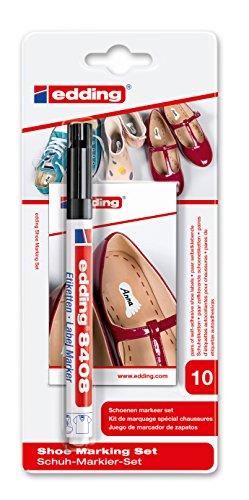 edding 8408 Label Marker - Schuh-Markier-Set - Zum dauerhaften Beschriften und Markieren von Schuhen - Farbe: Schwarz