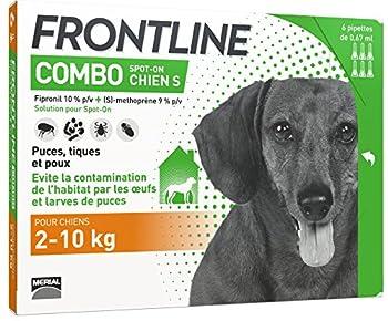 Frontline Combo chien 2/10 kg boite de 6 pipettes anti-puces et tiques