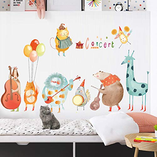 Yirenfeng Kinderzimmer Baby Schlafzimmer Dekorationen Aufkleber Kindergarten Musik Klassenzimmer Flur Cute Animal Wallpaper (Halloween Cute Wallpaper)