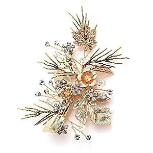 Vintage Gold Zweig Haar Klipp Brautoberteil Hochzeit Accessories