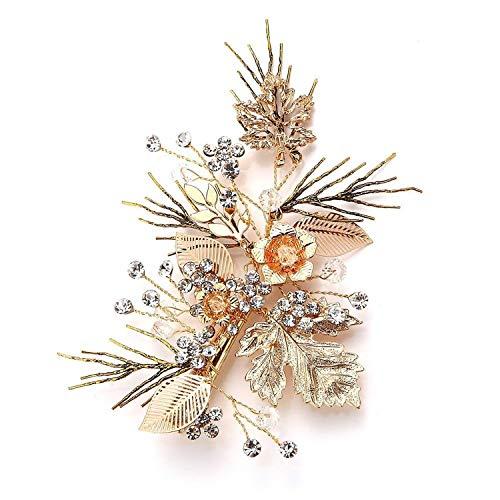 Vintage brindille en or Pince à cheveux pour mariée acessoire pour mariage