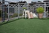 Kunstrasen  Rasenteppich Balkon Terasse Vlies Komfort 600 x 200 cm grün. Weitere Farben und Größen verfügbar