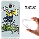 BeCool® - Coque Etui Housse en GEL Flex Silicone TPU Samsung Galaxy A5 2016 Comic Style Crash