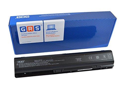 GRS Notebook Akku mit 6600mAh für HP Pavilion DV9000, dv9100, dv9700, dv9500, dv9600, ersetzt: HSTNN-IB34, HSTNN-IB40, 432974-001, 434674-001, EV087AA, EX942AA, HSTNN-UB33, 416996-131, 416996-521, 416996-541, 448007-001, EV087AA, Laptop Batterie 6600mAh, 14.4V