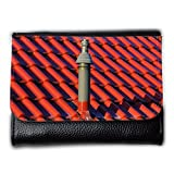 Portemonnaie Geldbörse Brieftasche // M00154517 Hauptdach-Kamin Gasheizung Fliesen // Medium Size Wallet