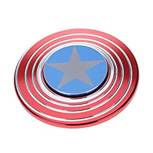 HuntGold spinner hand toy de Estrella Shield Espiral de metál EDC juguete,Para Relax Y Práctica De Niños Adultos