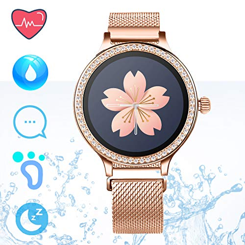 Fitness Tracker IP68 Smartwatch Android iOS - Smart Watch Telefono Bluetooth Pedometro Step Counter...