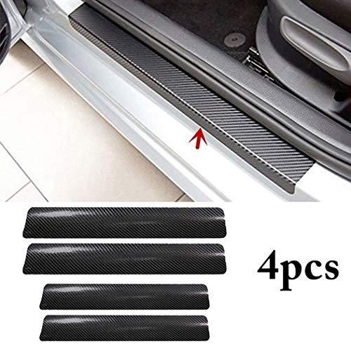 CVANU 4PCS Car Sticker Universal Anti-Scratch Door Sill Car Decal Car Sticker Decal (Black)