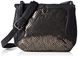 Tamaris Damen Vanja Crossbody Bag Umhängetaschen, Schwarz (Black Comb 098), 22x17x5 cm