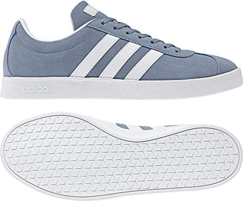 Adidas VL Court 2.0, Scarpe da Fitness Donna, Donna, Donna, Grigio (Grinat Ftwbla Aerver 000), 38 EU | finitura  ed2624