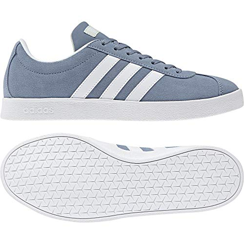 adidas Damen Vl Court 2.0 Fitnessschuhe, Grau (Grinat/Ftwbla/Aerver 000), 39 1/3