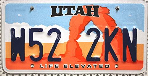 USA Nummernschild UTAH ~ US Kennzeichen ~ LIFE ELEVATED ~ Blechschild