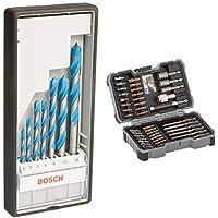 Bosch Professional 7tlg. Mehrzweck Bohrer Set CYL-9 (Multi Construction, Zubehör für Bohrmaschinen mit Rundschaftbohreraufnahme) + Bosch Professional 43tlg. Schrauber Bit Set (Zubehör für Elektrowerkzeuge)