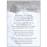 Grave Card - Loving Memories Of A Special Dad At Christmas - Free Card Holder - CM18
