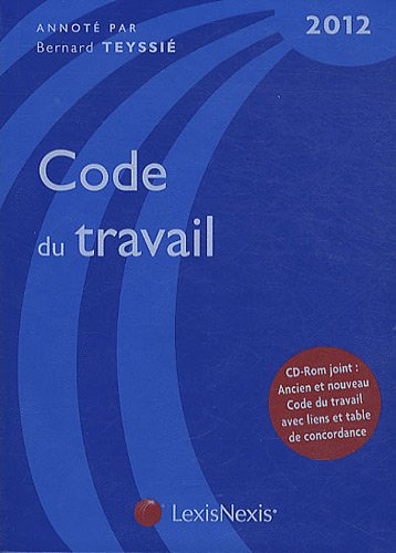 Code du travail 2012 (1Cédérom)