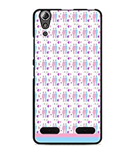 PrintDhaba Love Couple Pattern D-1597 Back Case Cover for LENOVO A6000 PLUS (Multi-Coloured)