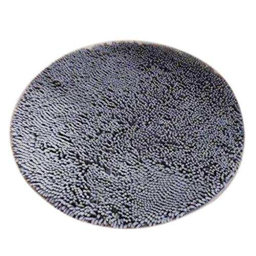 Sharplace Rund Badmatte aus Mikrofaser Rutschfest Bodenmatte Türvorlage Schmutzfangmatte - Grau,...