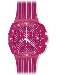 Swatch - SUIP401 - Pink Run - kunststoff chrono - Unisex - Silikon-Armband