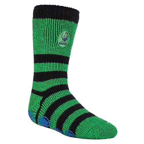 Heat Holders - Herren und Jungen Marvel thermische Anti Rutsch Socken Stoppersocken in 4 Designs (31-36 Eur, 12.5-3.5 UK, Hulk / Schiffsrumpf)