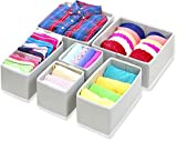#5: HOUSE OF QUIRK Non-Woven Foldable Cloth Storage Box (Grey) - Set of 6