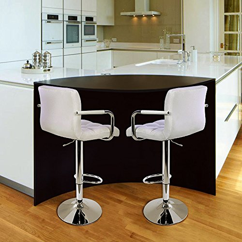 Songmics 2 x faux leather breakfast kitchen bar stools search furniture Home bar furniture amazon