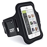 CaseiLike ® Nero, EXslimmer 9928, Dual-Slot Sport Armband con carta di credito / ID e Key slot Holder per Apple iPhone 5 5G 5S 5C 4 4S 4G 4GS 3 3G 3GS