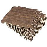 Umi. Essentials 1'x 1'(30cm x 30cm )Schiume per Piastrelle ad Incastro (Grano di Legno) (9 Pezzi Buio)