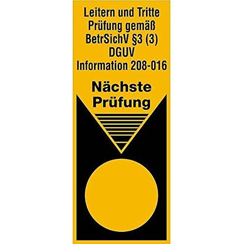 LEMAX® Prüfplakette Leitern & Tritte Prüfung gem. BetrSichV n. Prüfung 40x100mm100 Stk.
