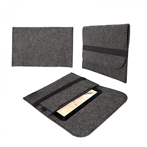 eFabrik Tasche für Blaupunkt Endeavour 1001 DVBT 10.1 Schutztasche Hülle Tablettasche Sleeve Case Soft Cover Schutzhülle Filz dunkel grau