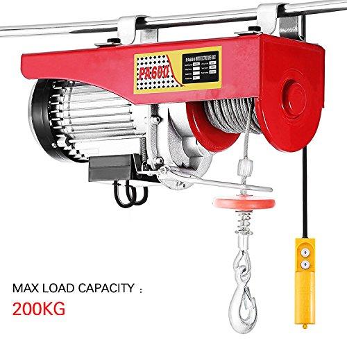 Palan électrique, 200KG, Palan électrique aérien, 230V, 12M, automatique pour l'installation d'équipement, éléments de levage, traction mécanique (200KG/510W)