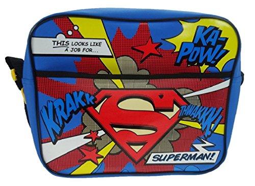 Superman Schulranzen, Mehrfarbig (Mehrfarbig) - SUPER001007 (Kunstleder Charlotte)