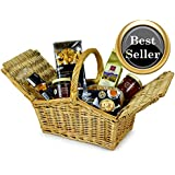 HAMPER TREAT - Twin flap traditional handwoven willow hamper packed with treats. Food hampers by Web Hampers.
