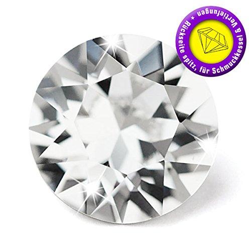 25 Stück SWAROVSKI ELEMENTS 1088 Chaton, Crystal, SS22 (Ø ca. 4,90 - 5,10 mm), Strasssteine zum Einkleben oder Fassen