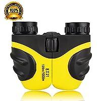 Children Binoculars For Kids, Mini Compact 8 x 21 Rubber Binoculars For Bird Watching&Wildlife (Yellow)