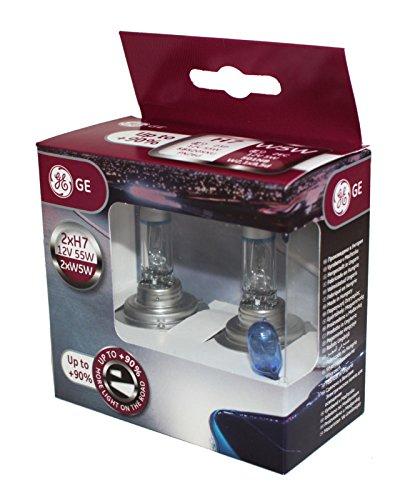 Preisvergleich Produktbild General Electric H7 12V 55W PX26D MegaLight Ultra +90% + W5W Blue Doppelbox