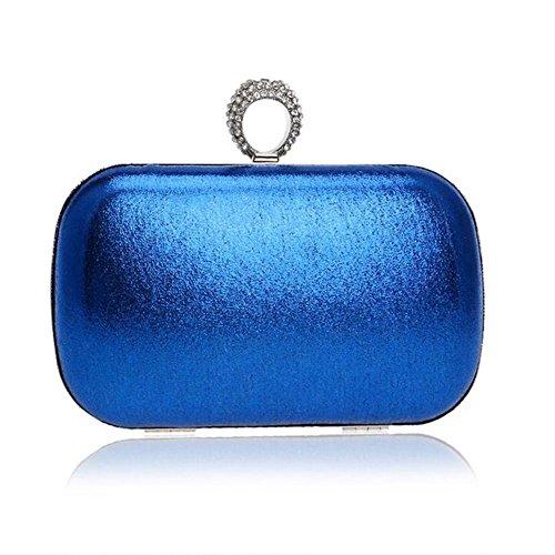 NAOMIIII Frauen-Normallack-Abend-Brautparty Sparkly Hochzeits-Kleine Schulter-Handtasche Blue