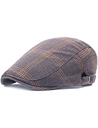 Men's Flat Cap Newsboy Cabbie Driving Duckbill Beret Hat Adjustable