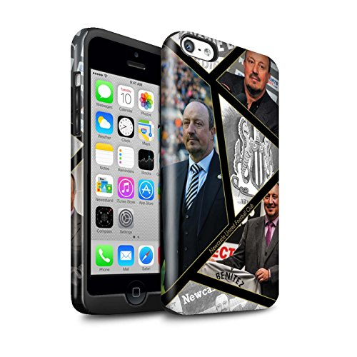 Officiel Newcastle United FC Coque / Brillant Robuste Antichoc Etui pour Apple iPhone 5C / Pack 8pcs Design / NUFC Rafa Benítez Collection Montage