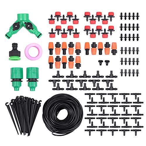 Proster Kit Accessori Raccordi per Irrigazione a Goccia Tubo 40M Gocciolatore Automatico Sistema Irrigazione da Giardino Piante Fiori DIY con 2 Ugelli Regolabili Risparmia Acqua