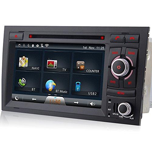 A Sure Lettore DVD GPS Sat Nav auto radio per Audi A4S4RS48F B9B7Seat Exeo SD/USB Bluetooth