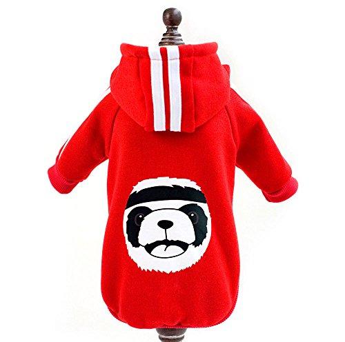 Hund Kostüme Sport (zunea Winter Warm Coat Panda Fleece Hoodies Sweatshirt Sport Katze Kleidung kleinen Hund Welpen Kostüm)