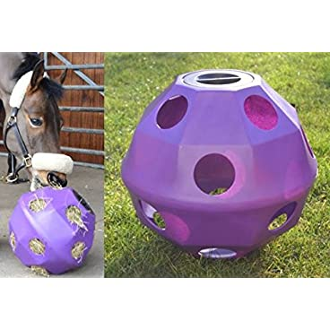 NATS Purple Equine Horse or Pony Hay Ball 75mm Holes