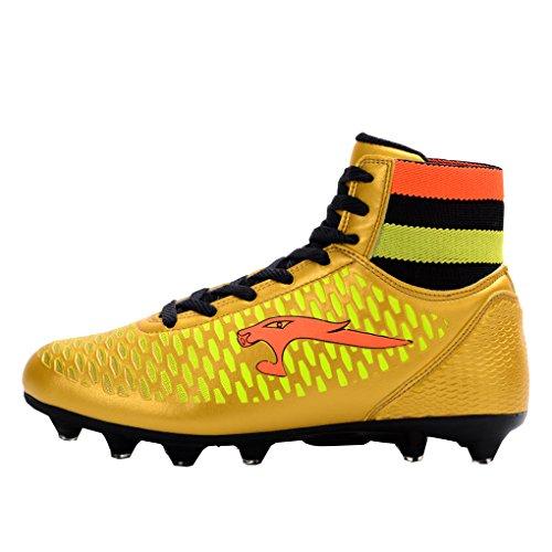 Ben Sports AG / FG Chaussures de Football Compétition Homme Chaussures de football garçon Mixte Enfant,33-46 or