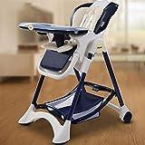 ZLMI Baby-Esstisch Multi-Funktion Tragbare Klapptisch Und Stuhl Sitzen Liege Liegend 0-3 Jahre Alt,Blue