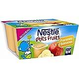 Nestlé p'tits fruits pomme banane 4x100g dès 6 mois - ( Prix Unitaire ) - Envoi Rapide Et Soignée